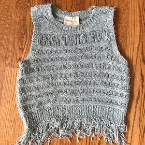 Moon River Sweater Fringe Tank